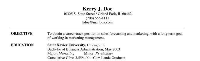 Career Objective  Resume My Career