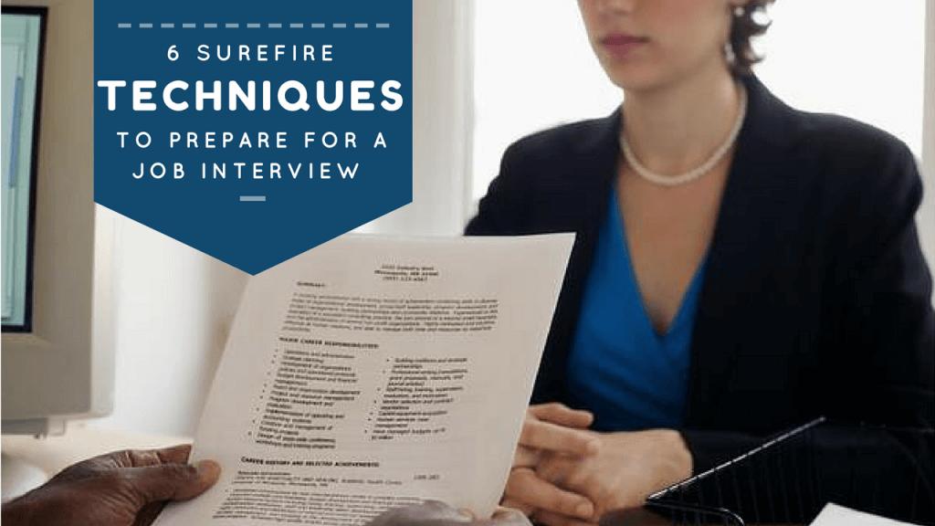 job interview preparation