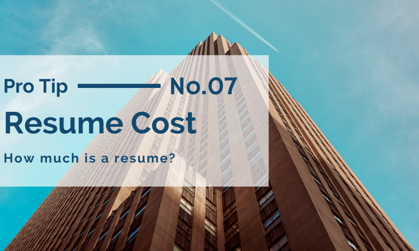 Resume Cost: Today's Resume Writing Services Prices