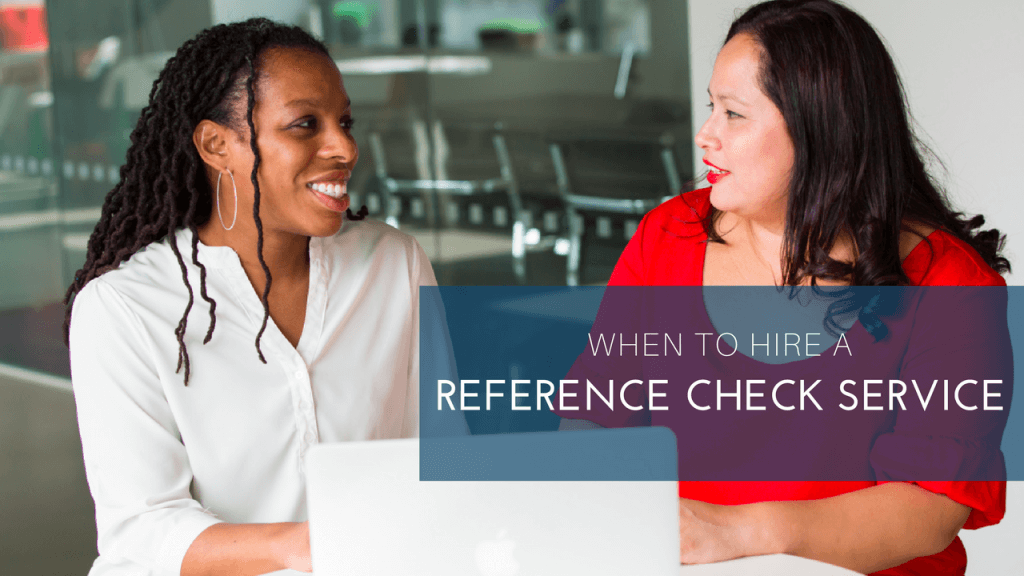 Reference check service